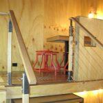 Flipboard Café red stools