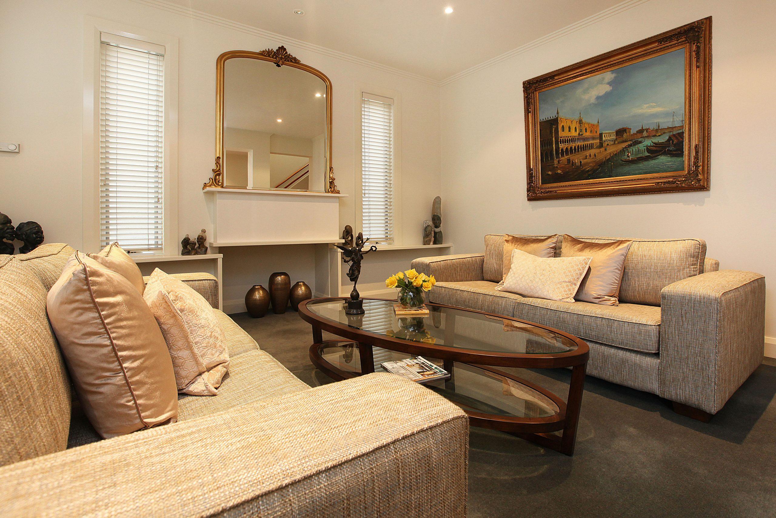 Living Room Side Angle - Interior Designer Melbourne