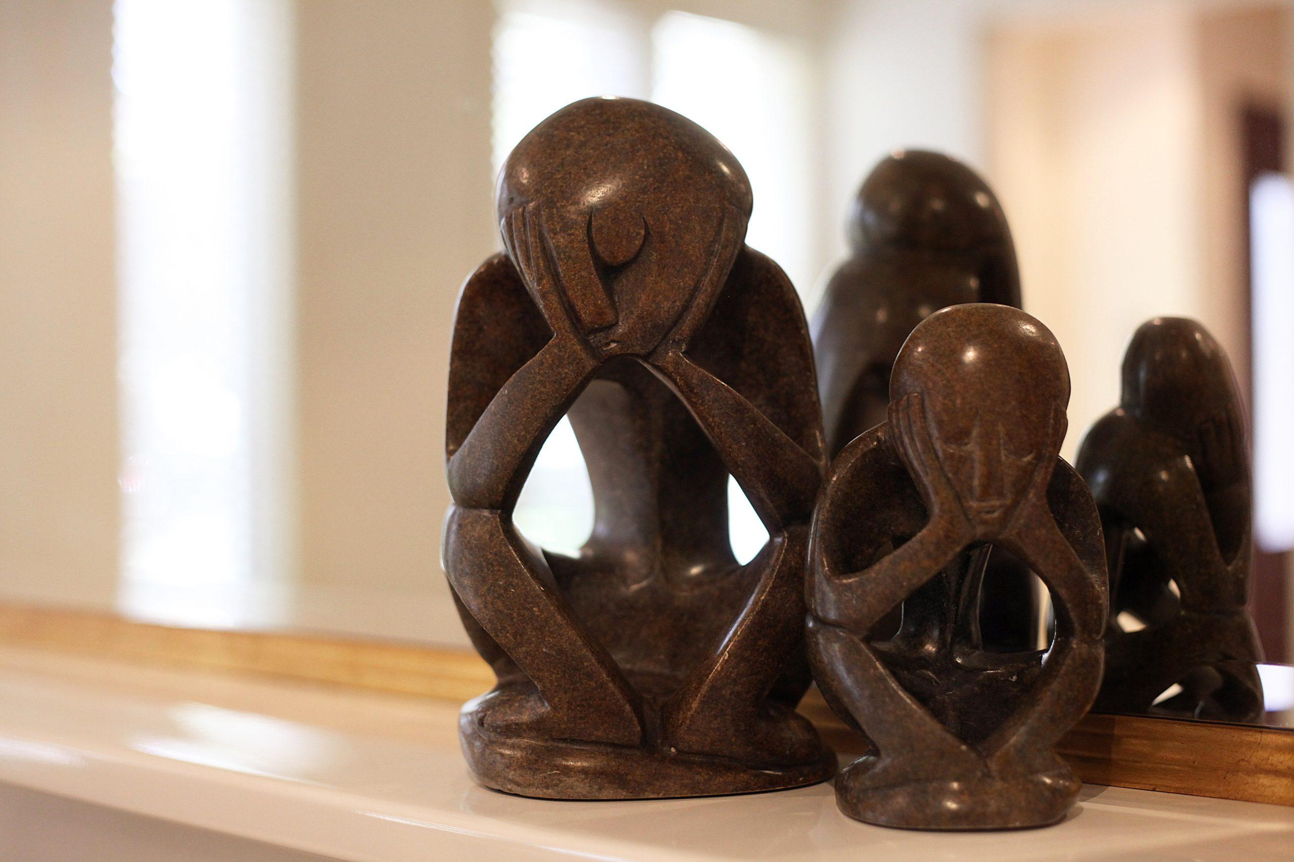 Sad Sculpture Pair - Interior Designer Melbourne