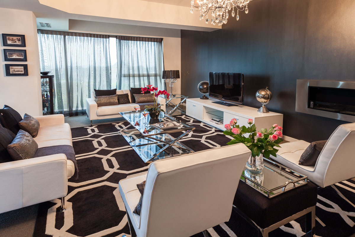 Interior Designer Melbourne liv room from ent